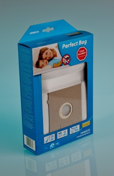 0000560 worki perfect bag siemensbosch typ k sbmb03k kpl4 1 - SBMB03K Комплект пылесборников Worwo (соотв. Bosch / Siemens Type K; 4шт + фильтр защиты двигателя)