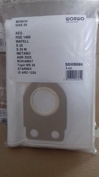20171211 125227 - SBMB 06 K Комплект пылесборников (для пылесоса Bosch GAS25) 5шт в компл.