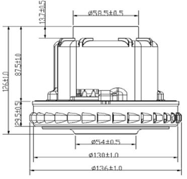 25 pylesosnyj dvigatel VC07W139 HX 80L 1500 W moyuschij zelmer sxema 20180625130624 1 - Двигатель для пылесоса VC07W139 (HX-80L) 1500 W (моющий) Zelmer, Thomas