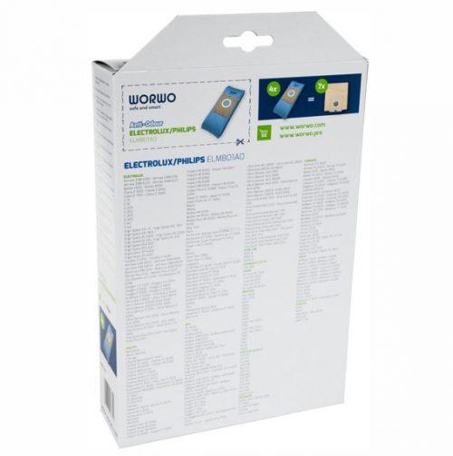 ELMB01AO 2 str 1 500x503 - ELMB 01 AO Комплект пылесборников противозапаховые 4шт+фильтр; Electrolux,Philips WOR-BAG