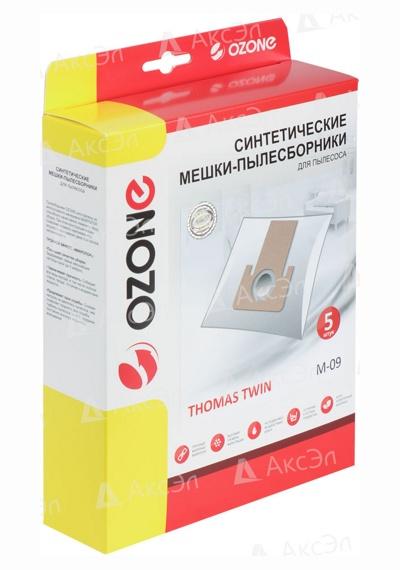 M 09.4 1 - M-09 Мешки-пылесборники Ozone синтетические 5 шт для пылесоса THOMAS