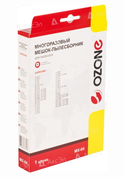 MX 04.5 - MX-04 Мешок-пылесборник Ozone многоразовый для пылесоса SAMSUNG, тип оригинального мешка: VP-95.