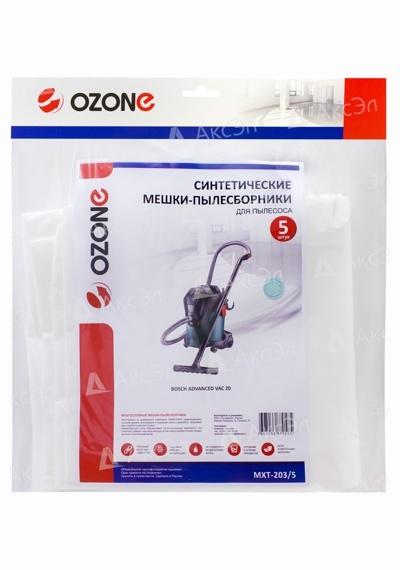 MXT 203 5.4 1 - MXT-203/5 Мешки Ozone для пылесоса BOSCH UNIVERSAL VAC 20, 5 шт.