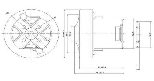 sxema vc07w62 20180726220710 500x262 - Двигатель для пылесоса VC07W62 1600W (Philips)