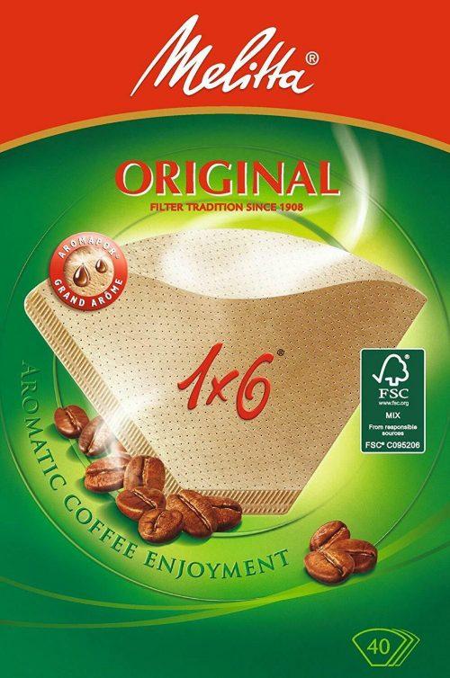 1 6 40 melitta 1 500x754 - Комплект фильтров для кофе 1X6/40