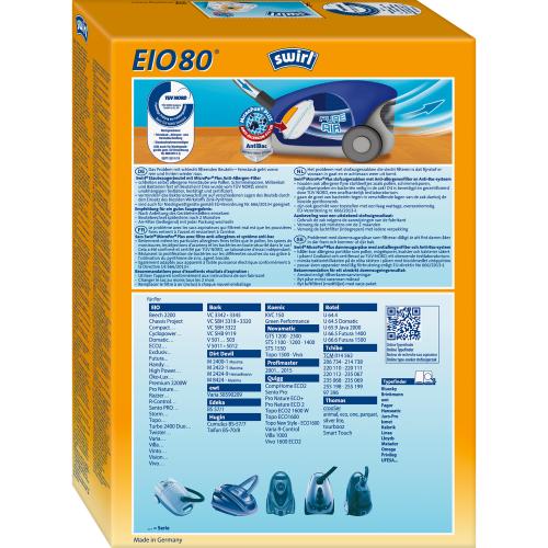 Swirl EIO80 MicroPor Plus 1 500x500 - SWIRL EIO 80/4 MP PLUS Комплект мешков для пылесоса