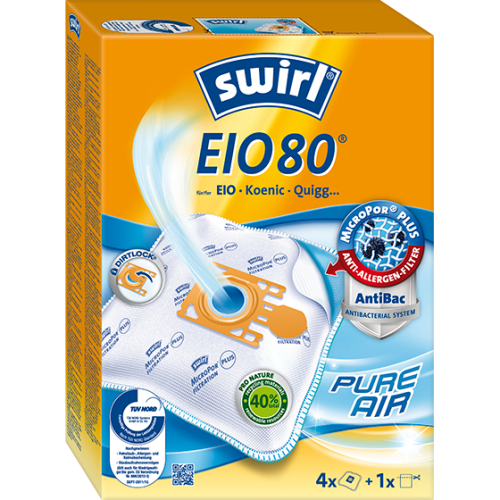 Swirl EIO80 MicroPor Plus 500x500 - SWIRL EIO 80/4 MP PLUS Комплект мешков для пылесоса