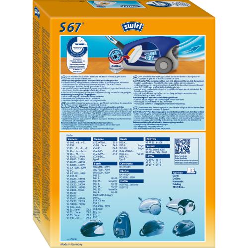 Swirl S67 MicroPor Plus 1 500x500 - SWIRL S 67/4 MP PLUS Комплект мешков для пылесоса Bosch