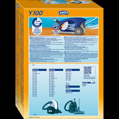 Swirl Y100 MicroPor Plus 1 500x500 - SWIRL Y 100/4 MP Plus Комплект мешков для пылесоса Daewoo