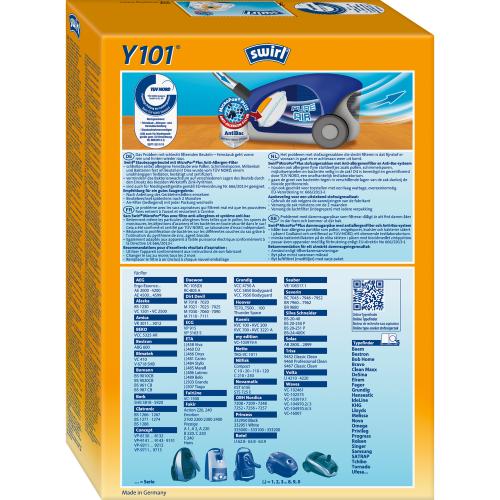 Swirl Y101 MicroPor Plus Swirl 500x500 - SWIRL Y 101/4 MP PLUS Комплект мешков для пылесоса Daewoo, AEG, BEKO, ETA .