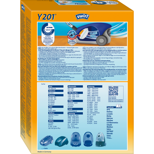Swirl Y201 MicroPor Plus 1 500x500 - SWIRL Y 201/4 MP PLUS Комплект мешков для пылесоса Samsung