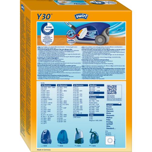 Swirl Y30 MicroPor Plus 1 500x500 - SWIRL Y 30/4 MP PLUS Комплект мешков для пылесоса LG