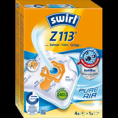 Swirl Z113 MicroPor Plus 500x500 - SWIRL Z 113/4 MP PLUS Комплект мешков для пылесоса Zelmer