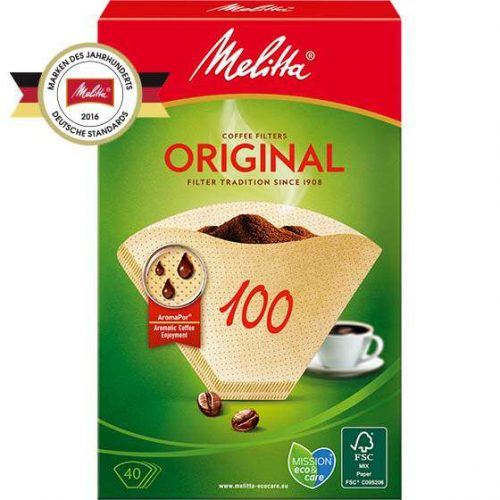Filtertueten Melitta Original 100 braun 6627300 500x500 - Комплект фильтров для кофе 100/40