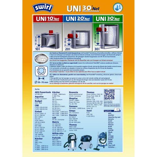 Staubsaugerbeutel Swirl Uni30 PowerNet 6575113 png 500x500 - SWIRL UNI 30net/3 Net Комплект универсальных мешков для пылесоса